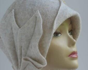 Women's felted hat  Felted wool hats Wool felt hat Winter womens hat Womens hat trendy Warm winter hat Warm winter beanie Winter beanie art
