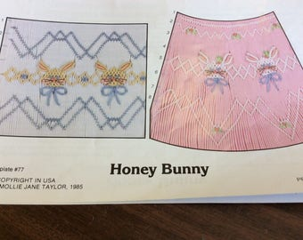 Honey Bunny Smocking Plate