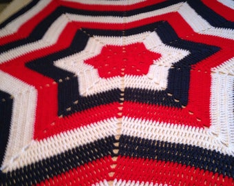 Large Granny Star Blanket