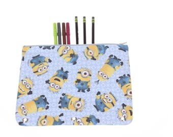 Minions 3-ring binder pencil case, 3-ring pencil case, 3 ring binder pencil pouch, school supply, stocking stuffer