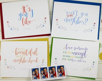 Mister Rogers Limited Edition Boxed Card Set, Mr. Rogers, Boxed Notecards, Mr. Rogers Quotes,  Just Because, Friendship, Encouragement Cards