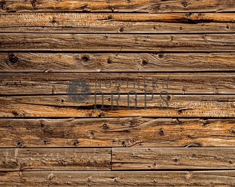 Photography Backdrop - Rustic Boards Background - Brown rustic wood board photo backdrop - Printed wood boards backdrop - 5ft x 5ft - 8ft