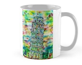 TOWER of PISA - watercolor painting - MUG