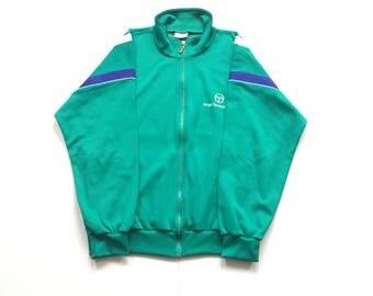 90s Sergio Tacchini Track jacket size italian 52 US 42 Large teal purple vintage