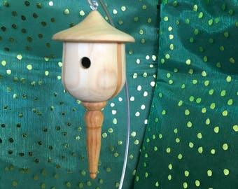 Handcrafted Wooden Birdhouse Ornament