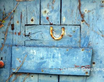Greetings Card (small, A6) - Lucky Door - birthday, good luck, congratulations, thankyou