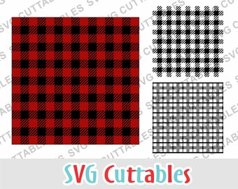 Buffalo plaid pattern SVG, DXF, EPS,  plaid svg, plaid stencil svg, Silhouette, Cricut cut file, Digital Cut File