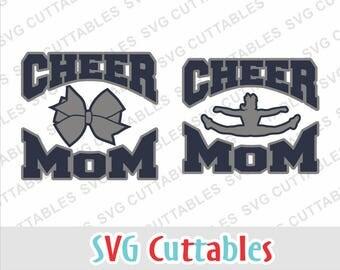 Cheer Mom svg, Cheer mom, Cheerleader svg, Cheer bow, svg, eps, dxf, Silhoeutte file, Cricut cut file, digital download