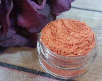 Coral Eyeshadow - Mineral Makeup - Natural Eyeshadows - Organic Makeup - Natural Cosmetics - Orange Eyeshadow - Artisan Makeup