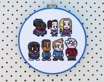 Video Game Community Cross Stitch Pattern