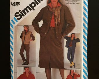 1983 Simplicity Pattern # 6164, Misses Size 12, Go-Everywhere Pattern, Uncut