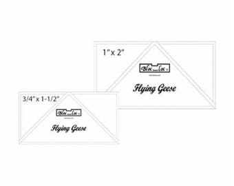 "Bloc Loc Flying Geese Set #4 -  .75"" x 1.5"" and 1"" x 2"" finished rulers"