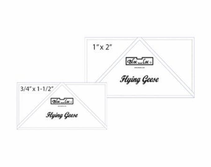 """Bloc Loc Flying Geese Set #4 -  .75"""" x 1.5"""" and 1"""" x 2"""" finished rulers"""