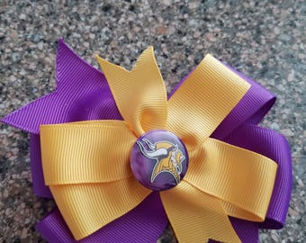 Minnesota Vikings hair bow