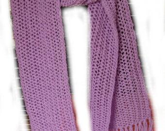Large purple fringed scarf