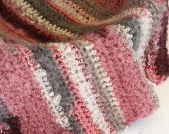 Crochet handmade Mini blanket, photography blanket, baby photo prop, handmade baby blanket, mini blanket, basket filler, shabby chic blanket