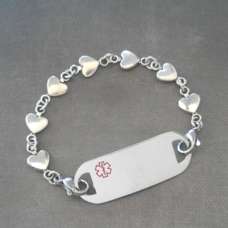 Medic Alert Bracelet Waterproof Id Bracelet Marfan Syndrome