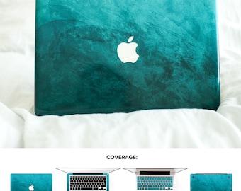 Designer Macbook Pro Skin Petroleum Blue Green Color Macbook Pro Skin Macbook Top Skin Macbook Air Skin Macbook Pro 13 Skin #Petroleum Blue