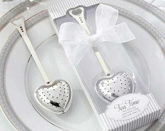 50 Tea Strainers (gift boxes), Tea Infuser - Heart Heart-shaped - Wedding Favors, Party, Gifts, Tableware - Restaurant, Cafe Culinary
