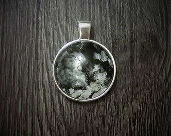 Abstract black and white pendant