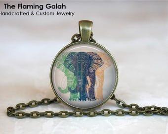 ELEPHANTS Pendant • BoHo Elephants • Three Elephants • Trio of Elephants • Elephant Shadow • Gift Under 20 • Made in Australia (P1365)