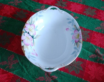"Noritake AZALEA Oval 10"" Vegetable Salad Serving Bowl Dish - Red Stamp 19322 - Hand Painted"