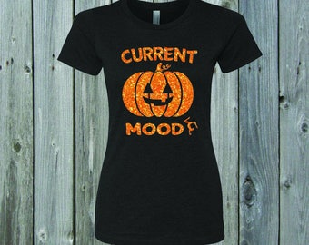 Current Mood Pumpkin Gymnast Fitted Tee