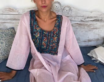 Indian vintage style long hippy dress loose fit