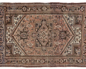 Vintage Persian Heriz Rug With Traditional Modern Style   6u00277 X ...
