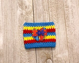 Autism cup sleeve - cup cozy - cozies - cup sleeves - coffee - autism ribbon - awareness - puzzle pieces