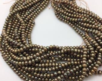 Metallic Olive Pearls