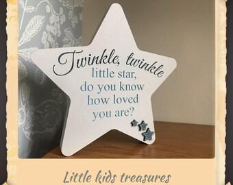 Twinkle, Twinkle little star: wooden boys decor by little kids treasures
