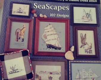 Seascapes by Jeanette Crews Designs counted cross stitch book