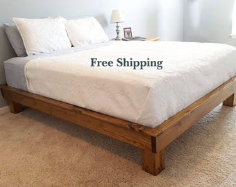 platform bed chunky leg platform bed dani platform bed solid wood platform bed - Solid Wood Platform Bed