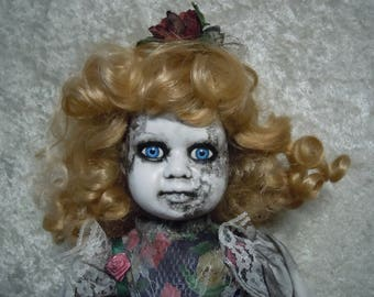 Creepy Old Doll #139 Dark Art Horror Collectible  #dayofthedollies