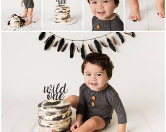 Wild one cake topper
