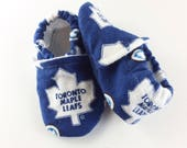 Toronto Maple Leafs Softsole Shoes, Slip Ons, Slippers Crib Shoes,