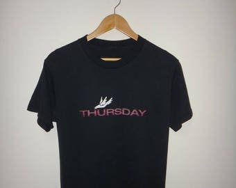 THURSDAY Band Post-Hardcore T-Shirts Emo Screamo Bird Logo