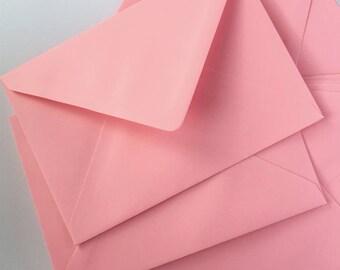 "50 4x6"" Envelopes Flamingo Pink A6 Envelopes C6 Pink Envelopes/wedding invitation envelopes/card making True Size 4.1/2 x 6.3/10"" 114x163mm"