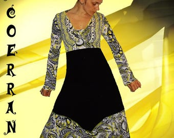 Set of asymmetrical tunic, bolero and harem pants, yellow harem pants, 'Yellow touch...'