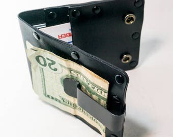 Leather Wallet with Money Clip