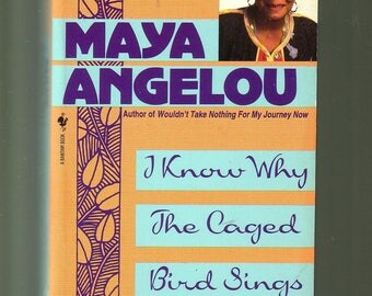 """I Know Why The Caged Bird Sings by MAYA ANGELOU.  A Novel.  Autobiography. Good Condition* 1993 Paperback. Includes the Poem """"Caged Bird""""."""