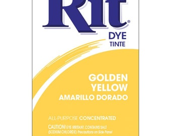 Powder Rit Dye - Golden Yellow All Purpose Concetrated