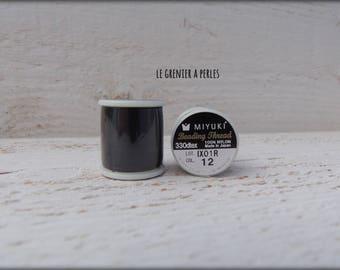 MIYUKI nylon beading thread B Black # 12