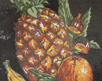 Needlepoint tapestry kit, FRUITS, PINEAPPLE, 30 x 40 cm, GN038