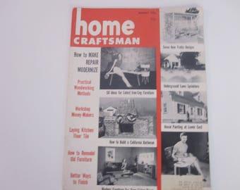 Home Craftsman Magazine August 1953