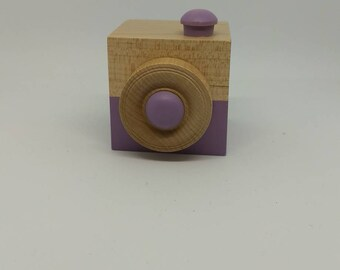 Lavender Wood Camera - Wood Toy