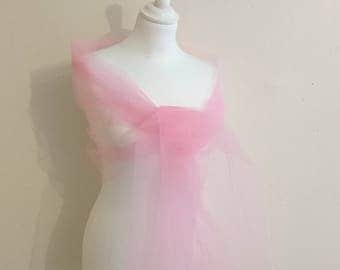 Tulle stole pink 2 meters / 70 cm wedding party season holiday Christmas