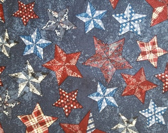 Texas Stars 2 Cotton Fabric sold by the yard