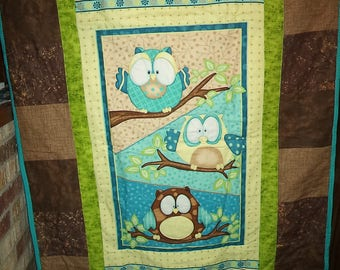 Hoot Owl Children's Quilt